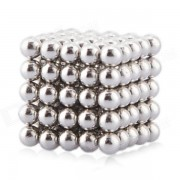 Magnetic Balls Beads Sphere Cube Puzzle Neocube Intelligence Toy 3mm Diameter 125 Pieces - Sliver