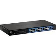 24-Port Gigabit Layer 2 Switch w/ 4 Shared Mini-GBIC Slots