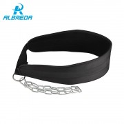 ALBREDA Fitness Equipment Drop Shipping Dip Belt Weight Lifting Gym Waist Strength Training Power Building Dipping Chain Pull Up