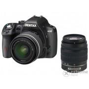 Aparat foto Pentax K-50 kit (obiectiv 18-55mm DAL WR+50-200mm DAL WR), negru