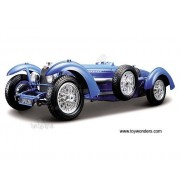 BBurago - Bugatti Type 59 Convertible (1934, 1/18 scale diecast model car, Blue) 12062 diecast toys cars