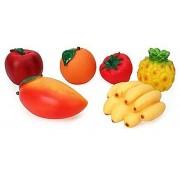 Fruit Family PVC Squeezy Fruits - 6 Pieces