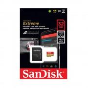 Micro SD Card, 32GB, SanDisk Extreme, 1xAdapter, Class 10 U3 (SQXAF-032G-GN6MA)