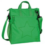 Lässig Wickeltasche Casual, Buggy Bag, Star deep green grün