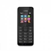 NOKIA 105 FULL BLACK SIMFREE GSM UNLOCKED TORCH RADIO EASY TO USE BASIC LONG BATTARY DUST & SPLASH PROOF
