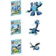 Lego, Mixels Series 2 Bundle Set of Frosticons, Slumbo (41509), Lunk (41510), and Flurr (41511)