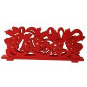 Star Trading Ljusstake Dancing Bells röda klockor 17cm hög