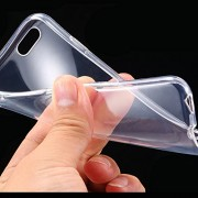 Cables Kart High Quality Ultra Thin 0.3mm Clear Transparent Flexible Soft TPU Slim Back Case Cover For Apple iPhone 6 / 6s.