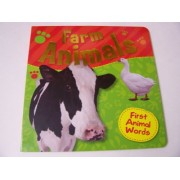 """Educational Board Book for Kids ~ Farm Animals (A First Words Book; 9.25"""" x 9.25"""")"""