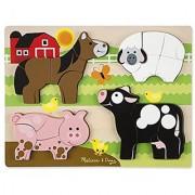 Melissa & Doug Farm Animals Chunky Jigsaw Puzzle (20 Piece)