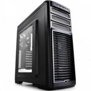 CARCASA DEEPCOOL ATX Mid-Tower, 2* 120mm white LED fan & 3* 120mm fan (incluse), side window, fan c