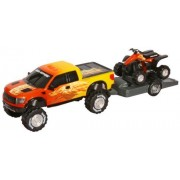 Toy State Road Rippers Light and Sound Trucks and Trailers: Ford F-150 Raptor SVT with ATV - Styles and Colors may Vary by Toystate