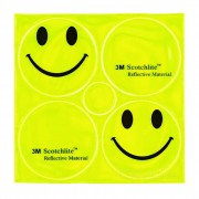 Salzmann Outdoor Smiling Face Style Cycling Bike Safety Warning Reflective Sticker - Green