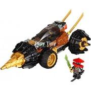 174 Piece Phantom Ninja Ninjago Cole's Earth Driller Burrow Mecha Chariot Without Original Box