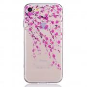 Bloesem hoesje doorzichtig iPhone 7 roze bloemen TPU case