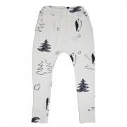 Pantaloni Playground - alb, 2-4 ani
