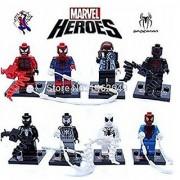 8pcs/lot Super Hero Avengers Spider man Minifigure Series Building Blocks Sets Toy Compatible With Lego (No box no card