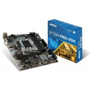 MSI B150M PRO-VDH Intel B150 LGA1151 Micro ATX moederbord