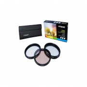 Polaroid Optics 3 Piece Special Effect Lens Filter Kit (Soft Focus, Revolving 4 Point Star, Warming) For The Canon Digital EOS Rebel SL1 (100D), T5i (700D), T4i (650D), T3 (1100D), T3i (600D), T1i (500D), T2i (550D), XSI (450D), XS (1000D), XTI (400D), XT