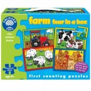 Set 4 puzzle - La ferma (4, 6, 8 & 12 piese) - Orchard Toys (209)