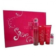 Perry Ellis 360 Pink for Women Gift Set (Eau de Parfum Spray 3.4 Ounce Lotion Shower Gel Eau de Parfum Spray 0.25 Oun