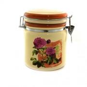 Bol pentru condimente din ceramica cu flori mov