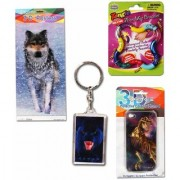 3-D Poster (Snow Wolf ) Artgame 3-D Protective Case For Iphone 4 (T-Rex) Artgame 3-D Key Ring (Panther) Snap And Twist Friendship