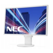 NEC MultiSync EA223WM white 22' LCD monitor with LED backlight, TN panel, resolution 1680x1050, VGA, DVI, DisplayPort, speakers, 130 mm height adjustable