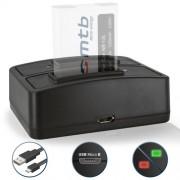 Double Chargeur (USB) pour NB-13L NB-13LH / Canon PowerShot G5 X, G7 X (Mark II), G9 X, SX620 HS, SX720 HS - Cable Micro-USB inclus