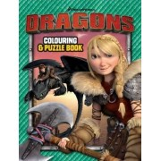 How to Train Your Dragon - Core Colouring and Puzzle Book by Dreamworks
