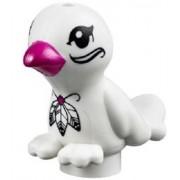 "LEGO FRIENDS TROPICAL EXOTIC WHITE BIRD ""PLUMA"" Animal Minifigure Figure Minifig Part Piece Cute boy girl Pet shop parrot"