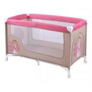 Prenosivi krevetac za bebe Nanny 1 Nivo Beige & Rose Princess BERTONI