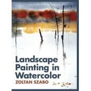 Landscape Painting in Watercolor by Zoltan Szabo