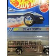 Hot Wheels School Bus Silver Series with 3 Spoke Wheels by Hot Wheels