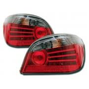 Stopuri cu LED BMW Seria 5 Sedan E60 03- rosu/negru