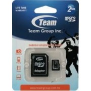 Card de Memorie Team Group microSD 2GB Clasa 4 + Adaptor SD