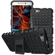 FABZONE Back Cover for Vivo Y55S Back Cover Hybrid Kick Stand Case - Black
