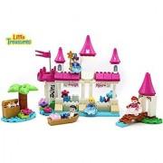 Princess River Castle Building block 110 pieces Duplo compatible toy set for children educational play time fun