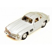 1954 Mercedes Benz 300 Sl, Silver Kinsmart 5346 D 1/36 Scale Diecast Model Toy Car