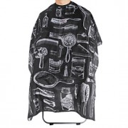 fashion blcak-vit frisyr cape (1 st)