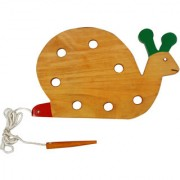 TOMAFO WOODEN TOYS LACING SNAIL-BIG