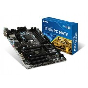MSI H170A PC MATE, H170, DualDDR4-2133, SATA3, SATAe, HDMI, DVI, VGA,USB3.1, ATX