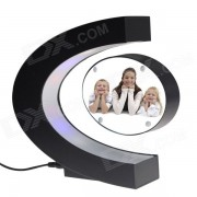 C-Style Electromagnetic Levitation Photo Frame - Black (US Plug)