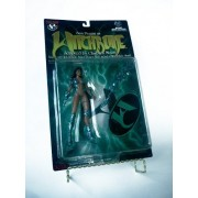1998 - Top Cow / Moore Action Collectibles - Sara Pezzini as Witchblade Action Figure - Armed w/ Witchblade Armor Power Staff - With Stand - Sculpted by Clayburn Moore - Series 1 - Limited Edition - Collectible by Witchblade