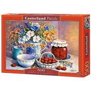 Cherries in China Basket 500 Piece Jigsaw Puzzle By Castorland Puzzles