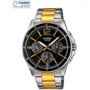 Casio Quartz Black Round Men Watch MTP-1374SG-1AVDF(A953)