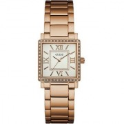 GUESS Rose Gold Metal Square Dial Analog Watch For Women (W0827L3)