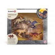 Schleich - 42212 - Figurine haute qualité - Mini-Dinosaures avec Puzzle Lave
