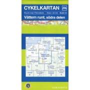 Fietskaart 14 Cykelkartan Vättern runt, södra delen - Vattern Meer zuidelijk gedeelte | Norstedts