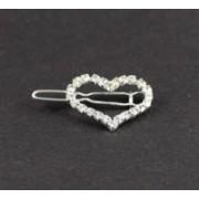 Svatební bižuterie štrasová sponka do vlasů srdce 5604-6 5604-6